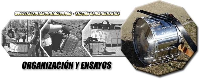 Fotografías: diferentes momentos de los ensayos de la Sección de Instrumentos (fotografías de David Beneded).